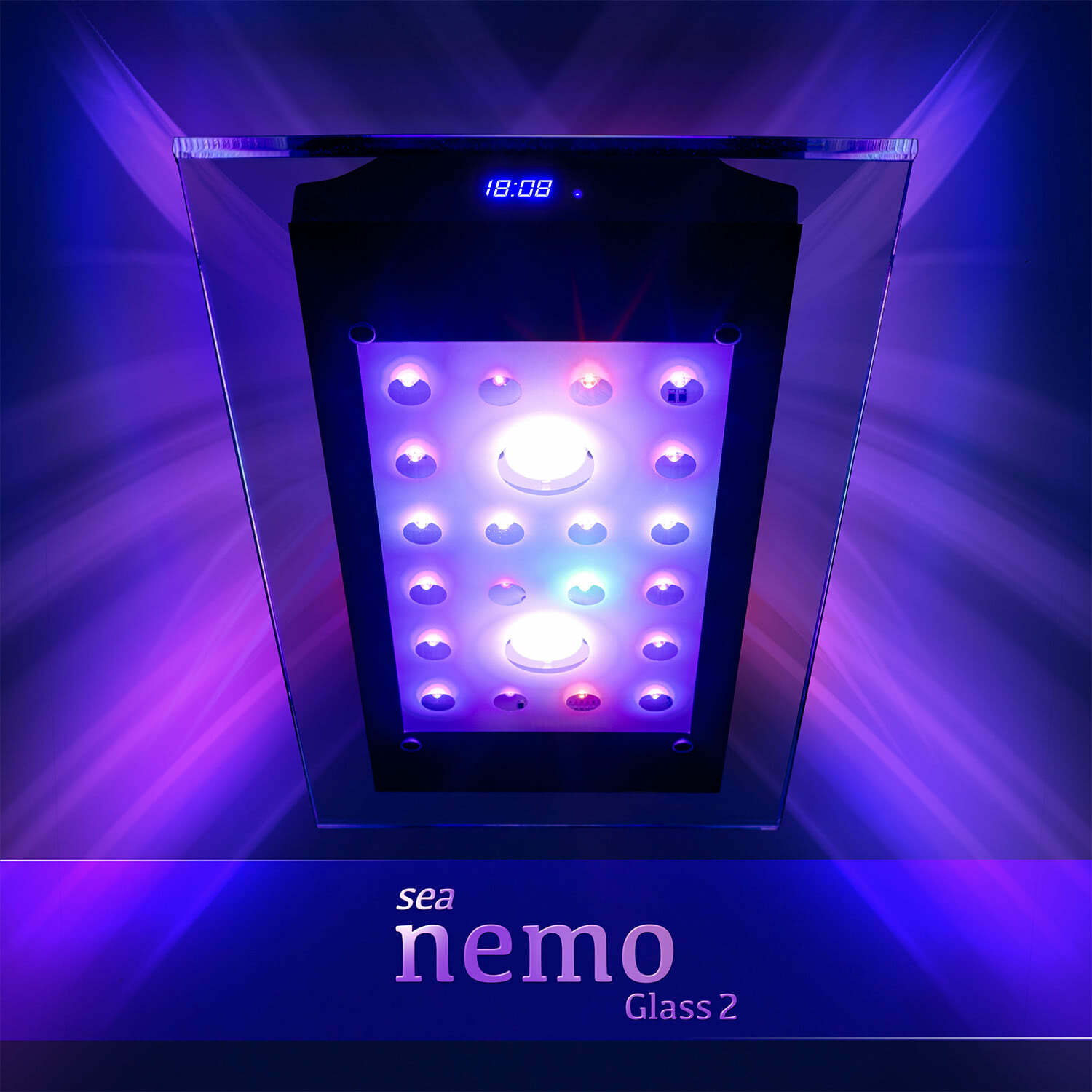 sea nemo glass 2 led korallen meerwasser aquarium beleuchtung lampe esmart ebay. Black Bedroom Furniture Sets. Home Design Ideas