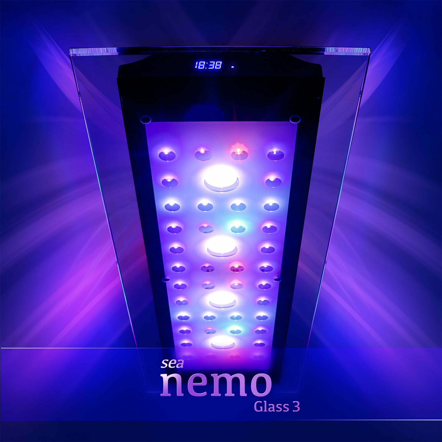sea nemo glass 3 led korallen meerwasser aquarium beleuchtung lampe esmart. Black Bedroom Furniture Sets. Home Design Ideas