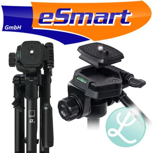 eSmart-Germany-Alpha3-Stativ-mit-Panoramakopf-Fotostativ-Kamerastativ-Tasche