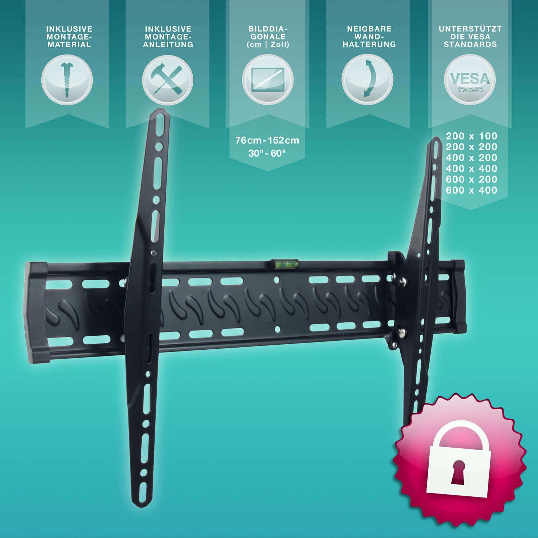 esmart lcd led universal tv wandhalterung 76 127cm 30 50 neigbar ebay. Black Bedroom Furniture Sets. Home Design Ideas