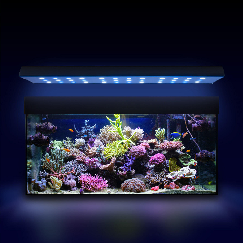 esmart germany nemo 2 led salzwasser aquarium beleuchtung lampe aufsatz leuchte ebay. Black Bedroom Furniture Sets. Home Design Ideas