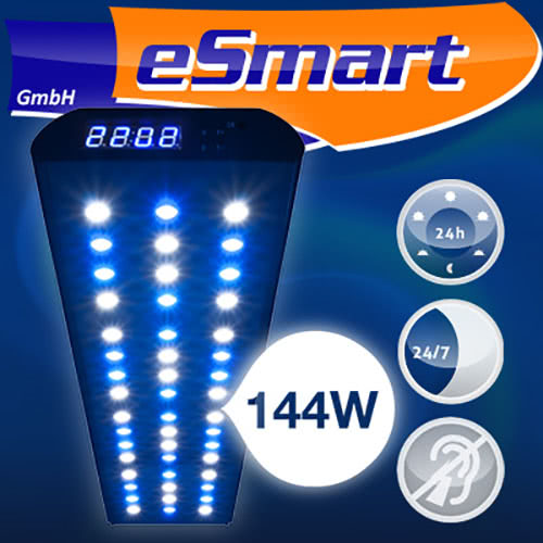 esmart germany nemo 3 led salzwasser aquarium beleuchtung lampe aufsatz leuchte ebay. Black Bedroom Furniture Sets. Home Design Ideas