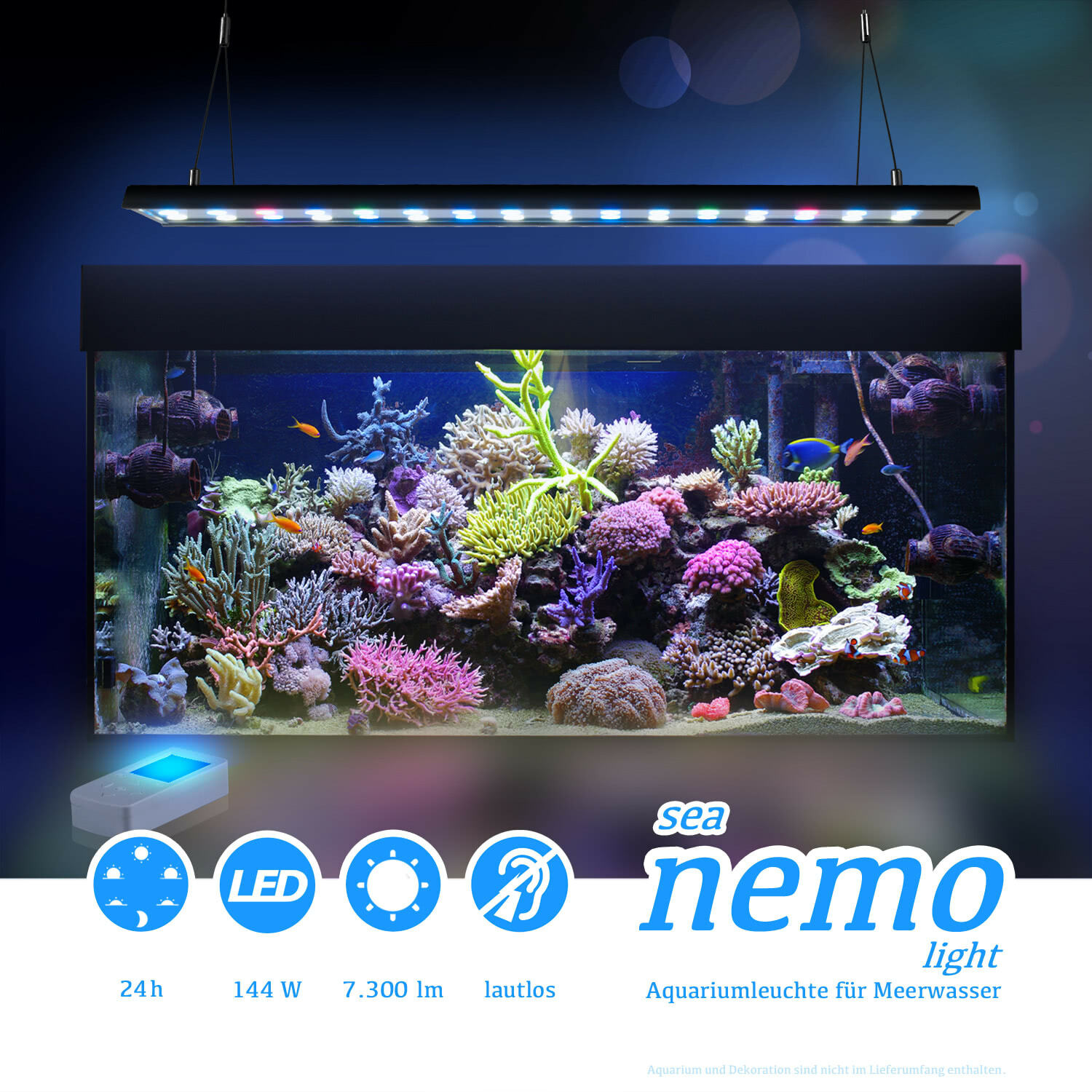 esmart germany sea nemo 2 led meerwasser aquarium korallen beleuchtung lampe ebay. Black Bedroom Furniture Sets. Home Design Ideas