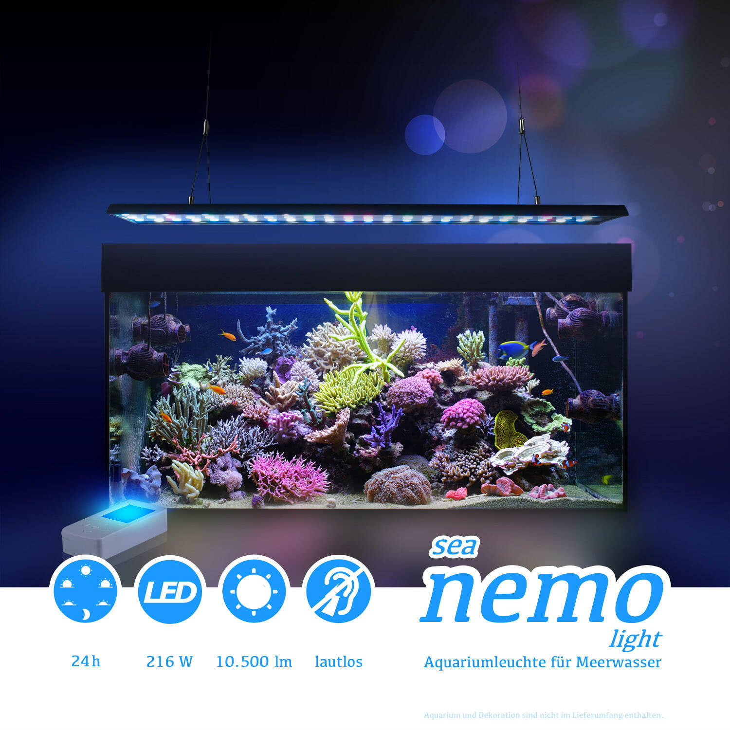 esmart germany sea nemo 3 led meerwasser aquarium korallen beleuchtung lampe ebay. Black Bedroom Furniture Sets. Home Design Ideas