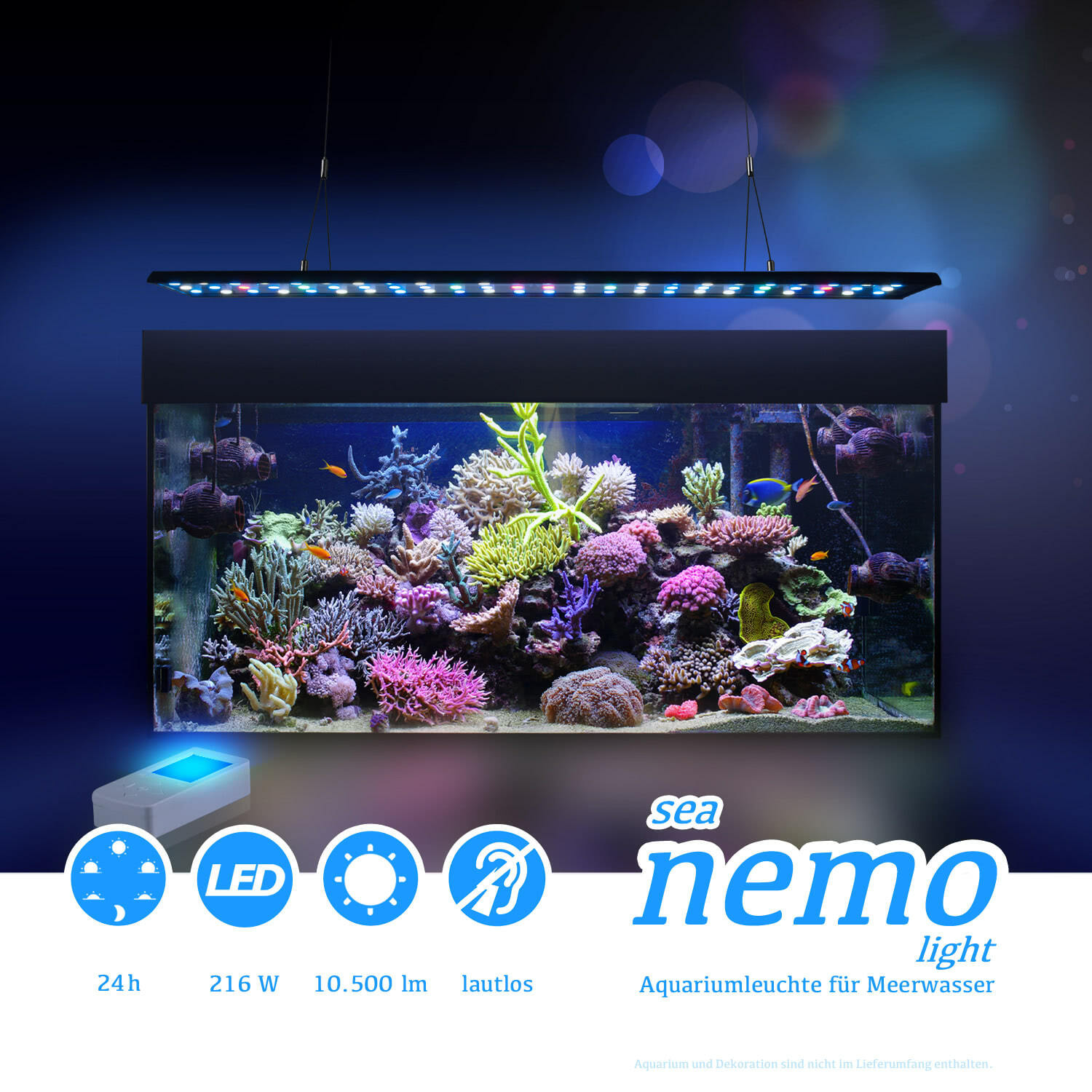 esmart germany sea nemo 4 led meerwasser korallen aquarium beleuchtung lampe ebay. Black Bedroom Furniture Sets. Home Design Ideas